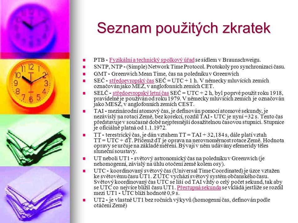 Seznam použitých zkratek