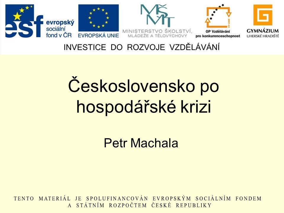 Československo po hospodářské krizi