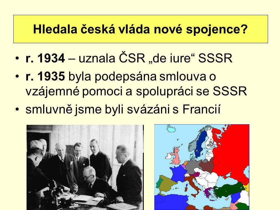 Hledala česká vláda nové spojence
