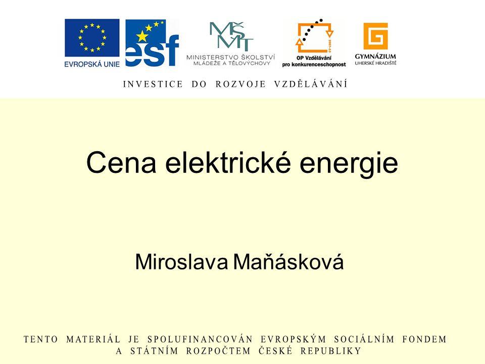 Cena elektrické energie