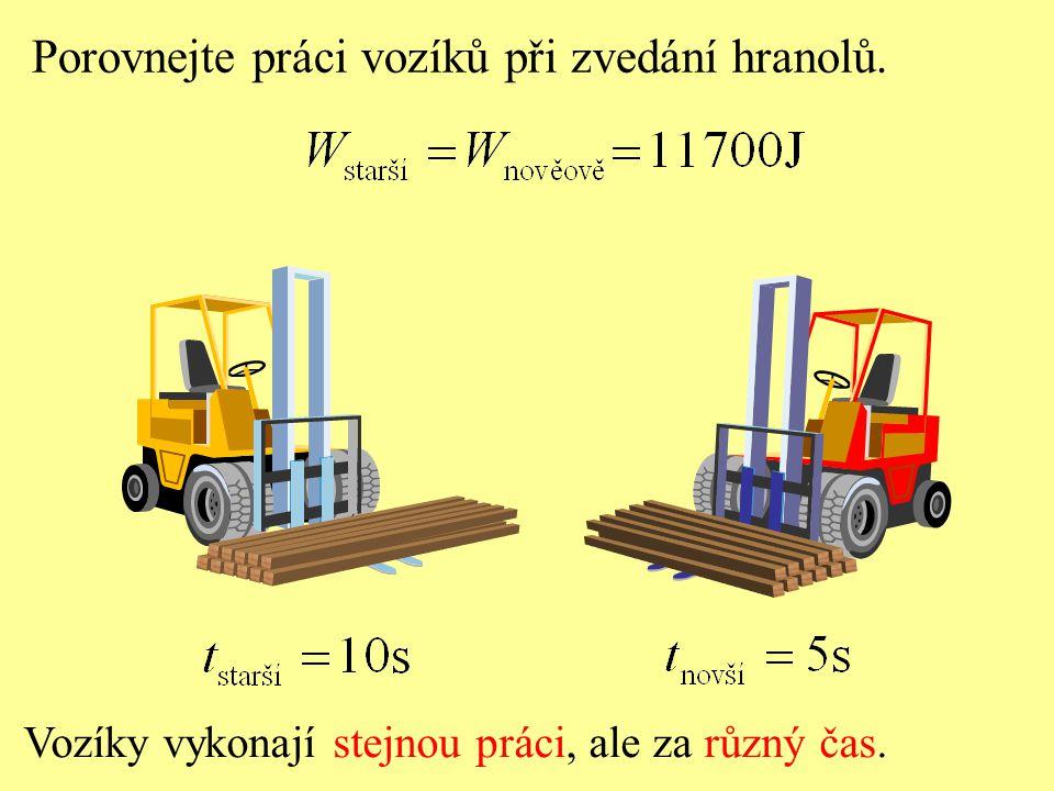 Porovnejte práci vozíků při zvedání hranolů.