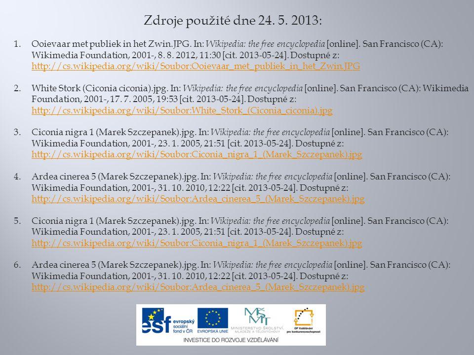 Zdroje použité dne 24. 5. 2013: