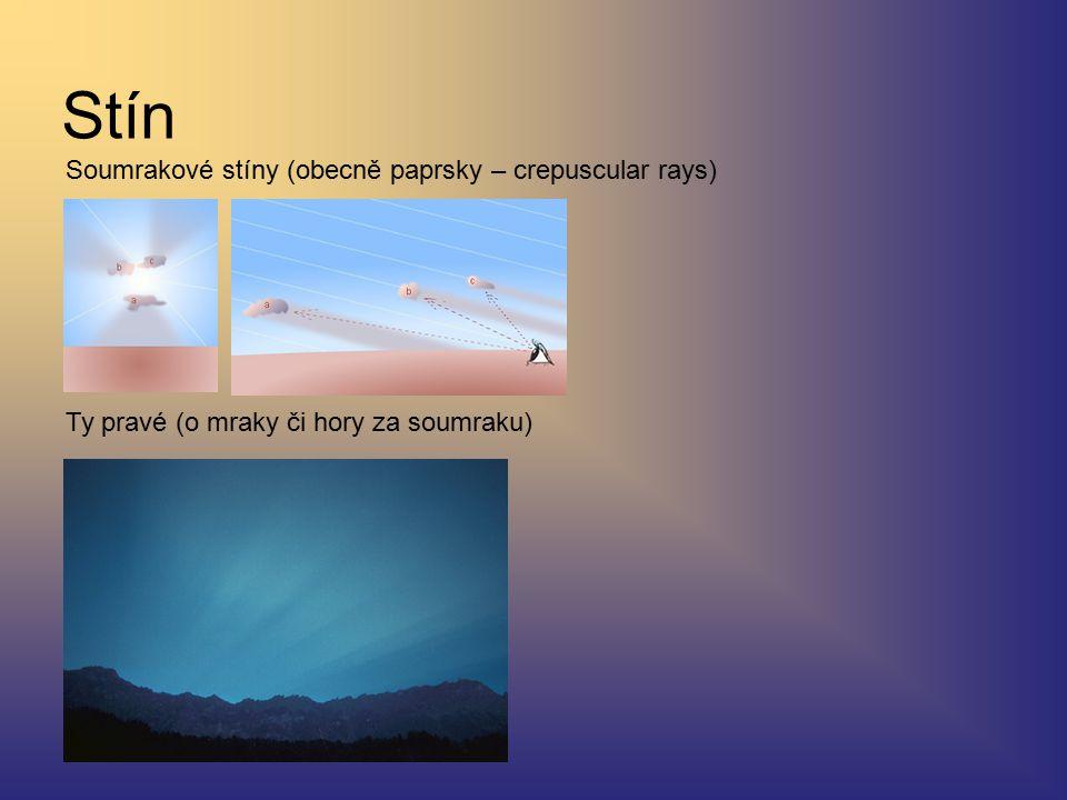 Stín Soumrakové stíny (obecně paprsky – crepuscular rays)