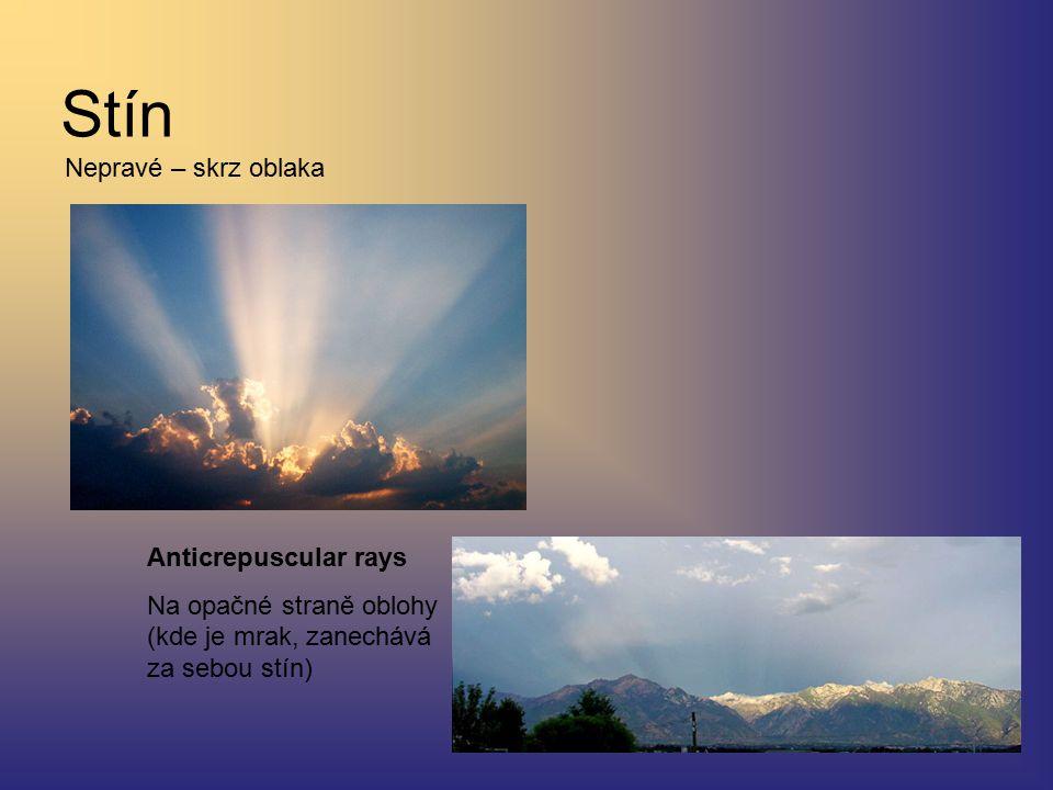 Stín Nepravé – skrz oblaka Anticrepuscular rays