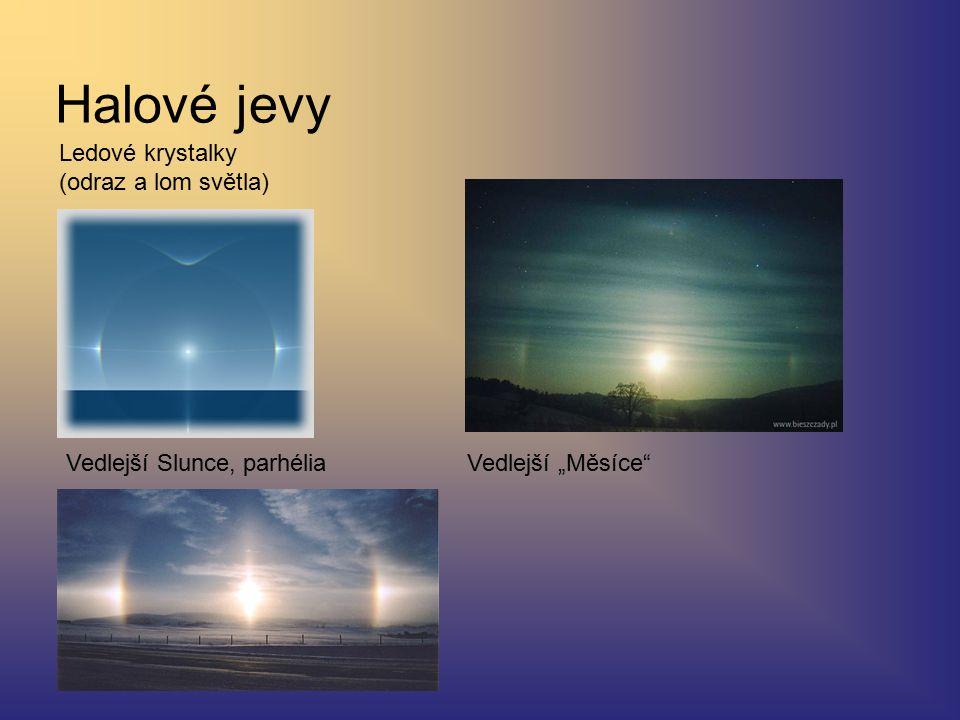 Halové jevy Ledové krystalky (odraz a lom světla)