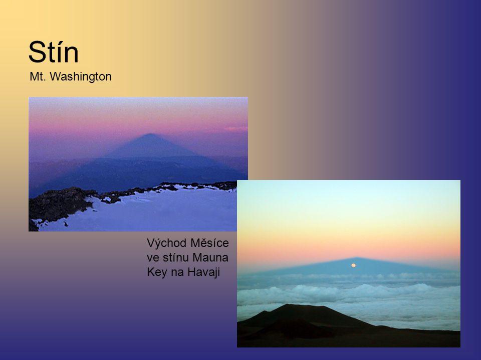 Stín Mt. Washington Východ Měsíce ve stínu Mauna Key na Havaji
