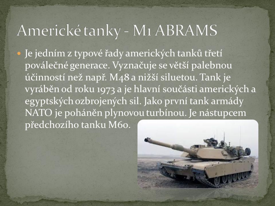 Americké tanky - M1 ABRAMS