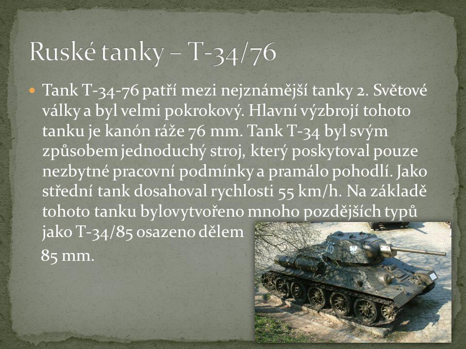 Ruské tanky – T-34/76