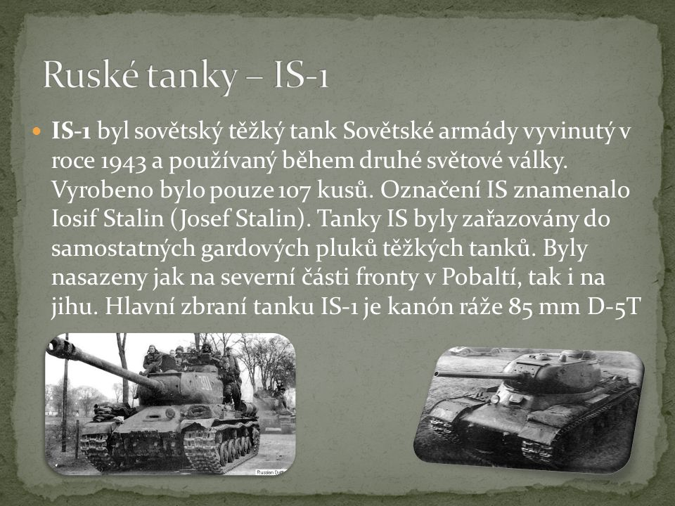 Ruské tanky – IS-1