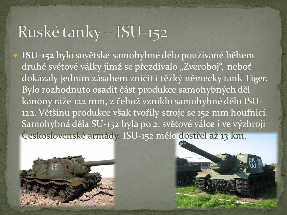 Ruské tanky – ISU-152