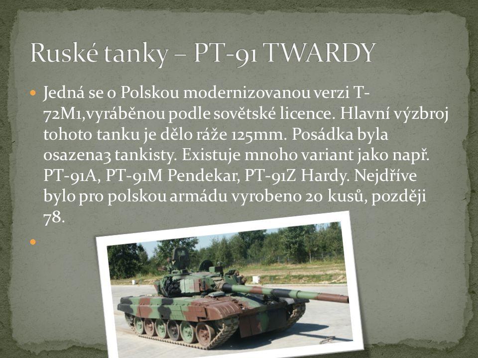 Ruské tanky – PT-91 TWARDY