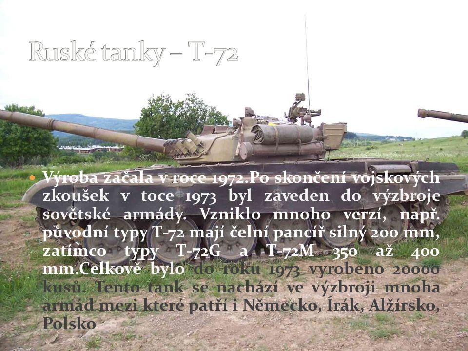 Ruské tanky – T-72