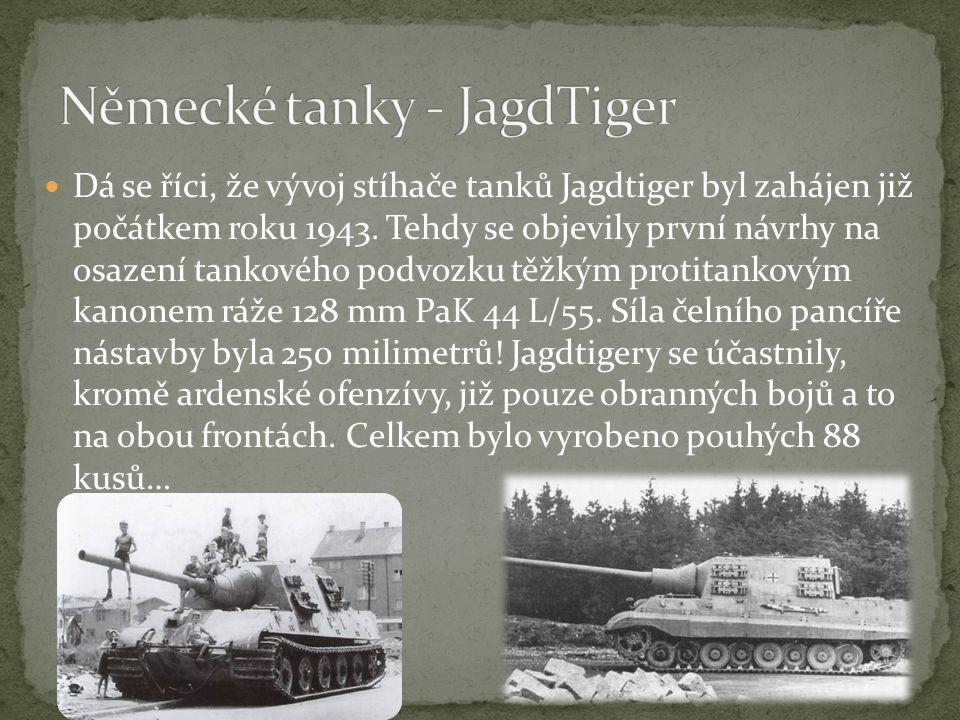 Německé tanky - JagdTiger