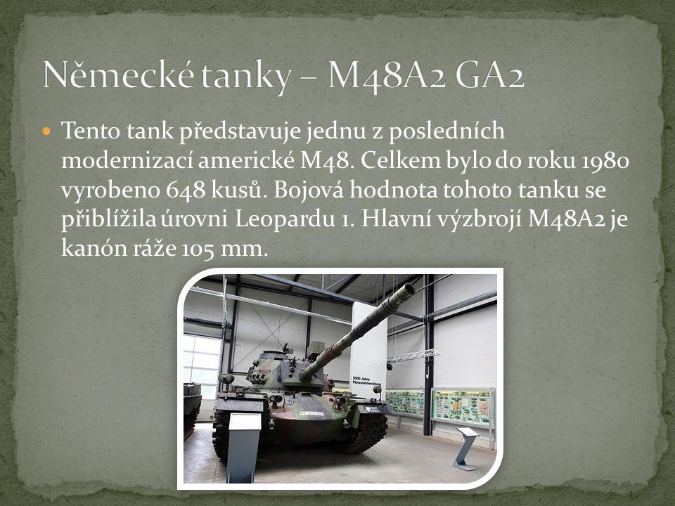 Německé tanky – M48A2 GA2