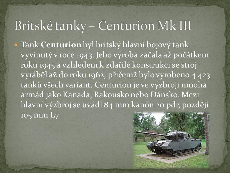 Britské tanky – Centurion Mk III