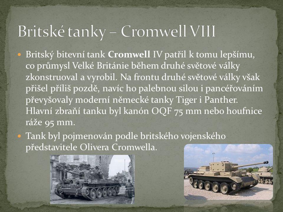 Britské tanky – Cromwell VIII