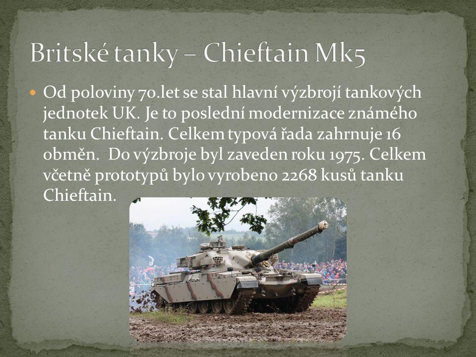 Britské tanky – Chieftain Mk5