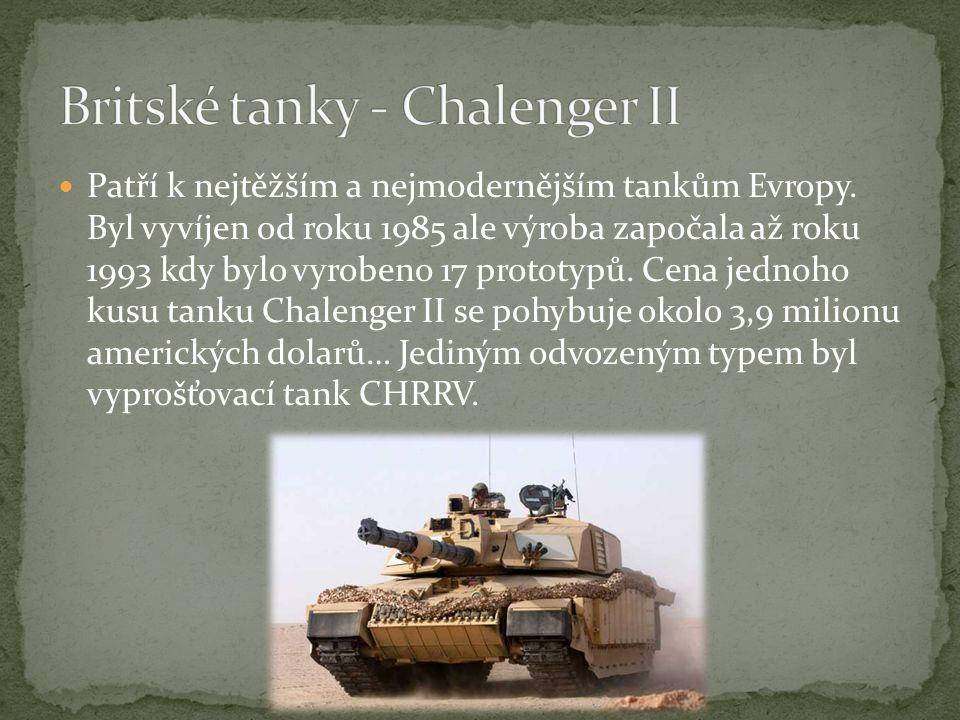 Britské tanky - Chalenger II