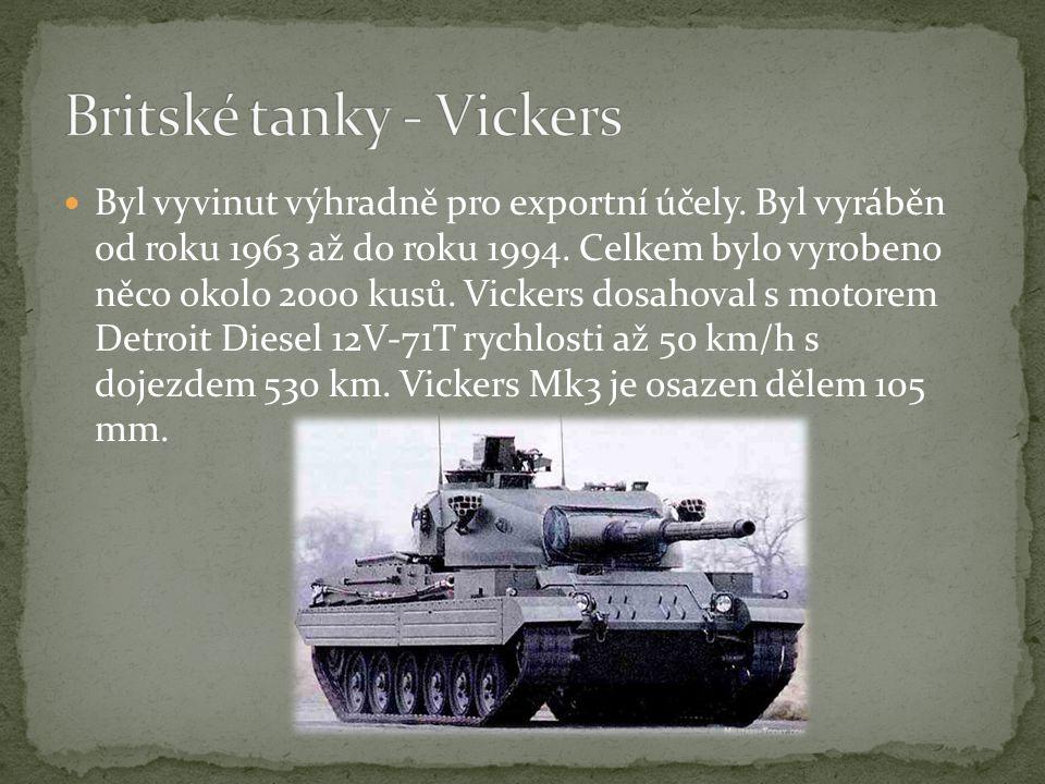 Britské tanky - Vickers