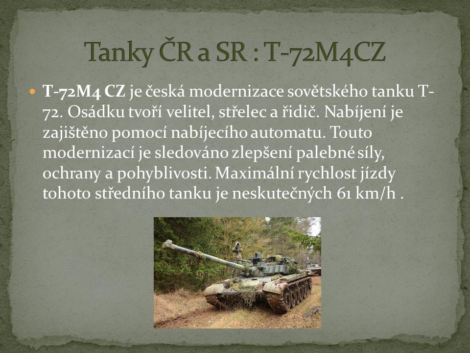 Tanky ČR a SR : T-72M4CZ