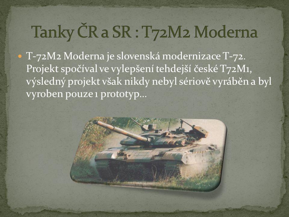 Tanky ČR a SR : T72M2 Moderna