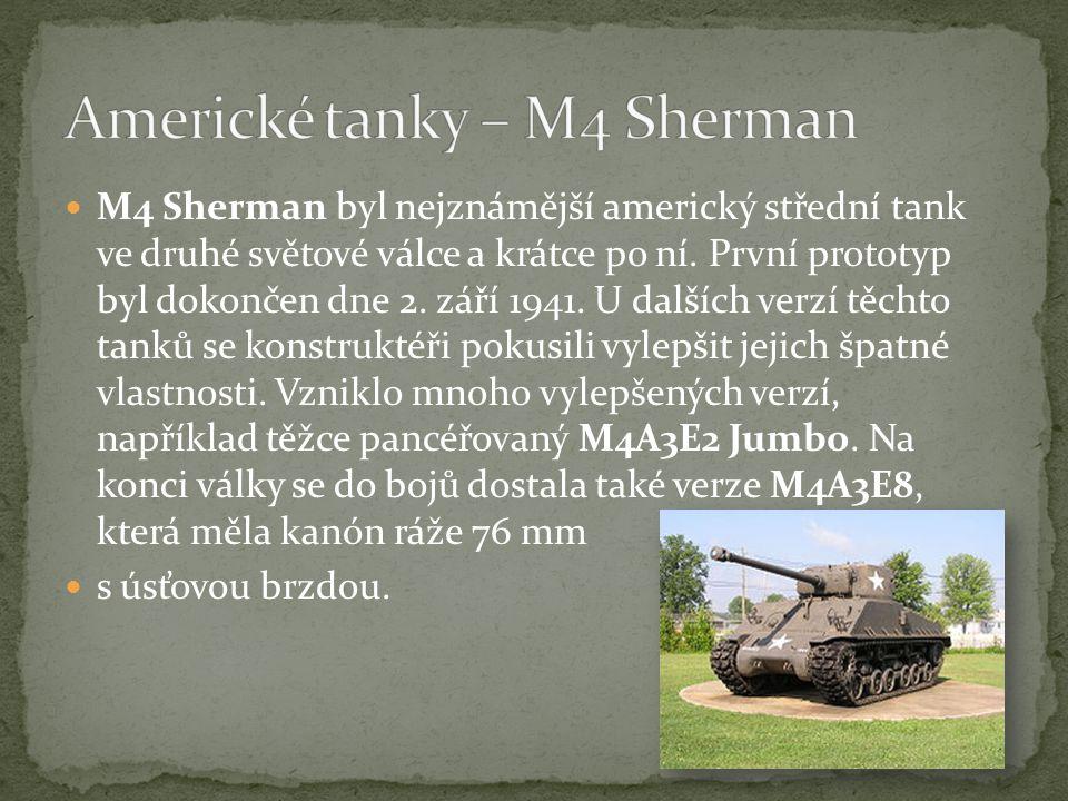 Americké tanky – M4 Sherman