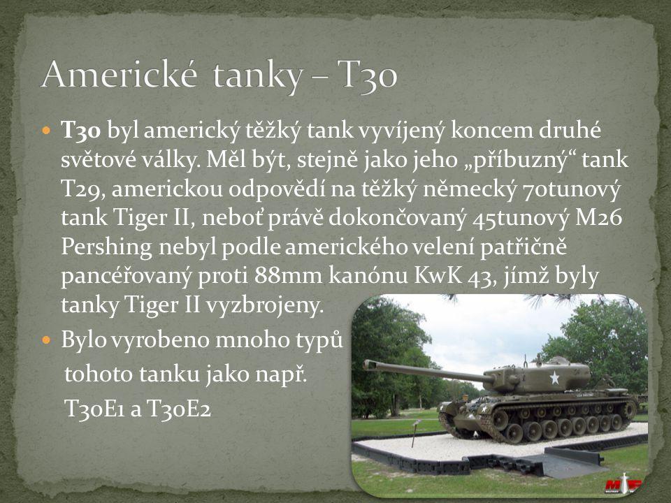 Americké tanky – T30
