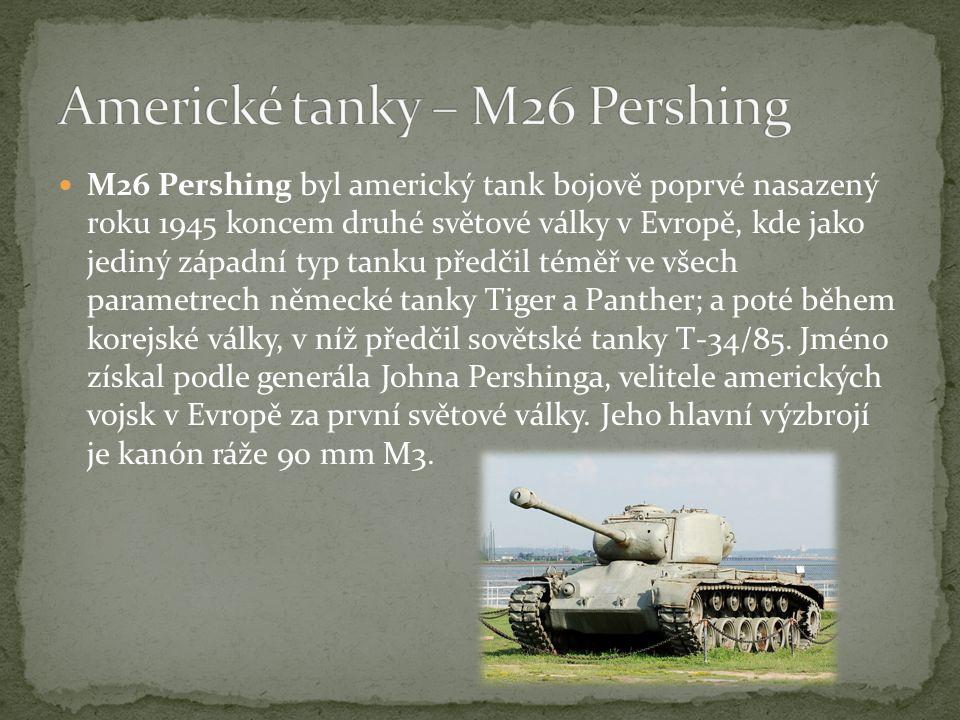 Americké tanky – M26 Pershing