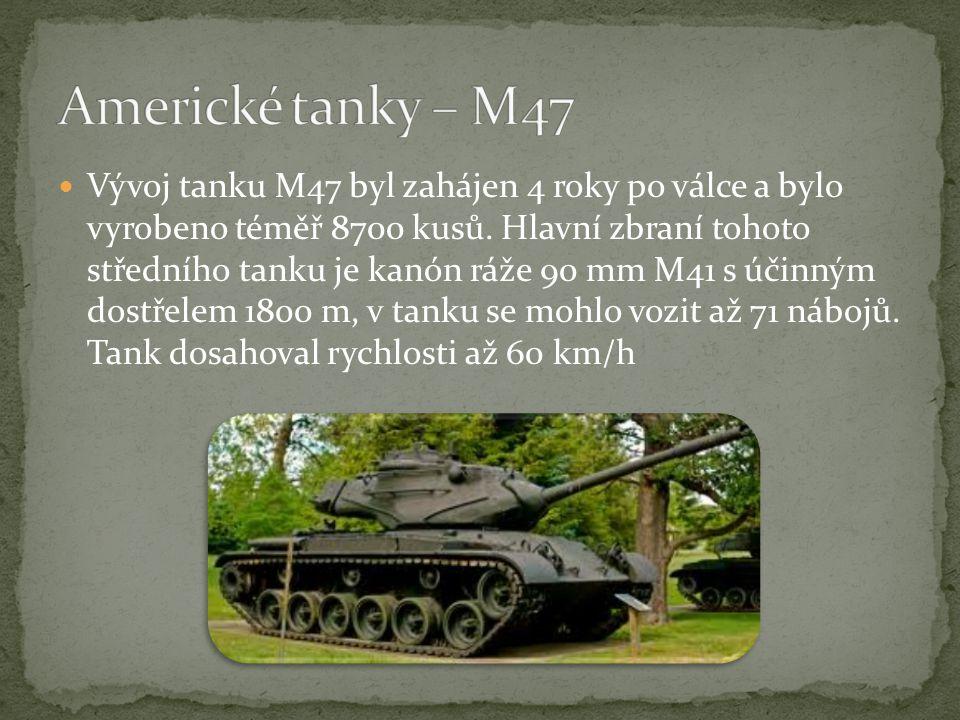 Americké tanky – M47