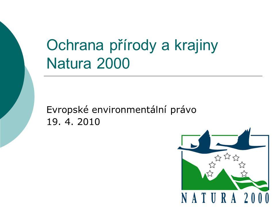 Ochrana přírody a krajiny Natura 2000