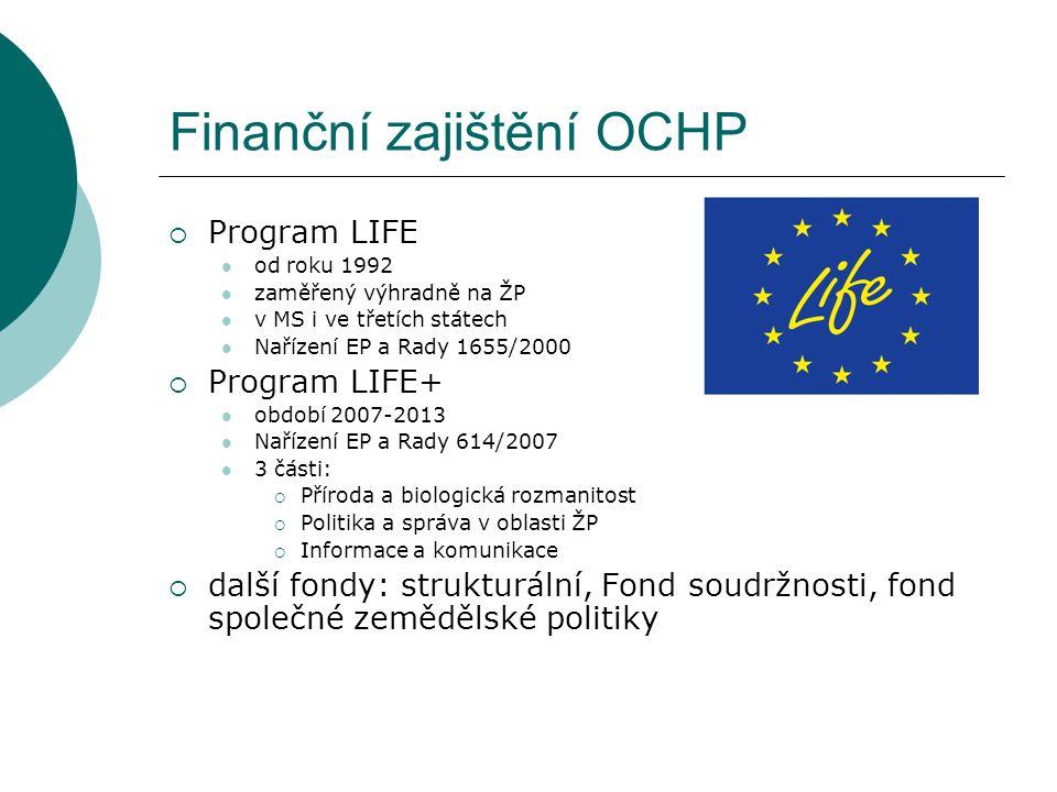 Finanční zajištění OCHP
