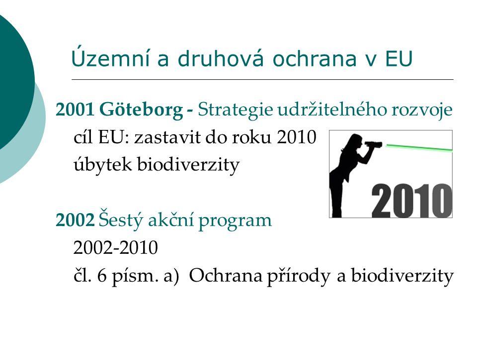 Územní a druhová ochrana v EU