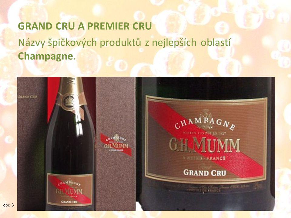 GRAND CRU A PREMIER CRU Názvy špičkových produktů z nejlepších oblastí Champagne.