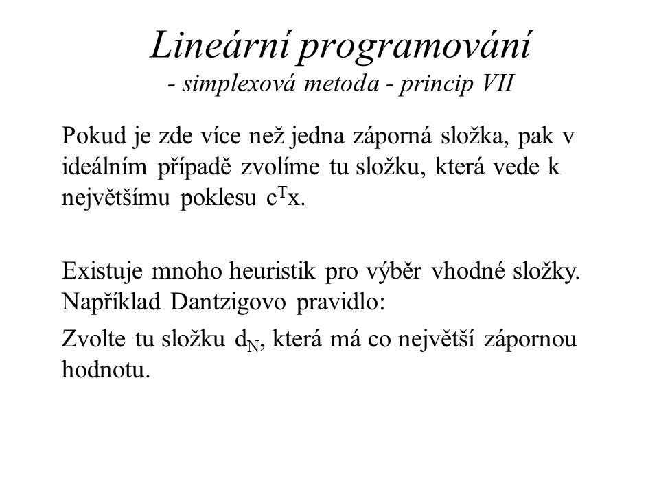 Lineární programování - simplexová metoda - princip VII