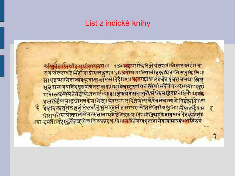 List z indické knihy