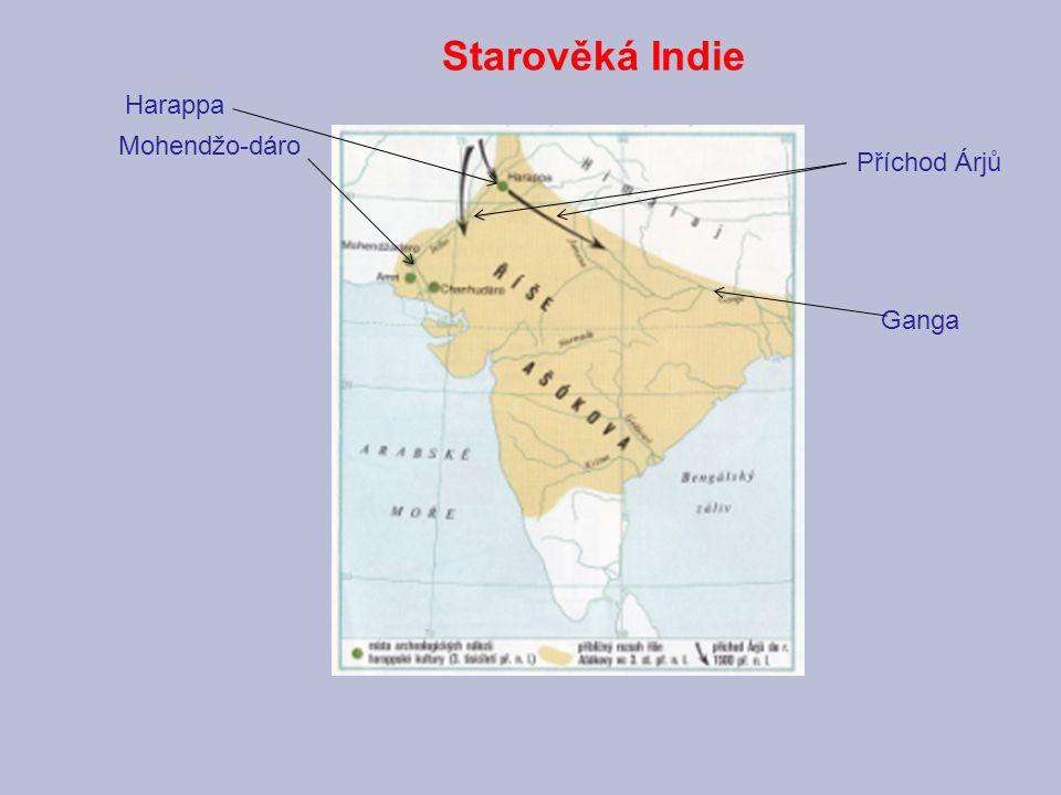 Starověká Indie Harappa Mohendžo-dáro Příchod Árjů Ganga