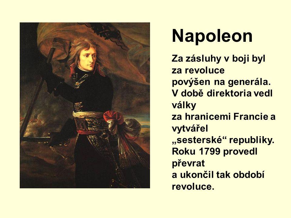 Napoleon Za zásluhy v boji byl za revoluce povýšen na generála.