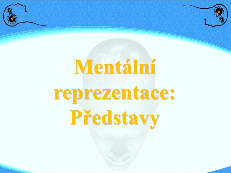 Mentální reprezentace: Představy