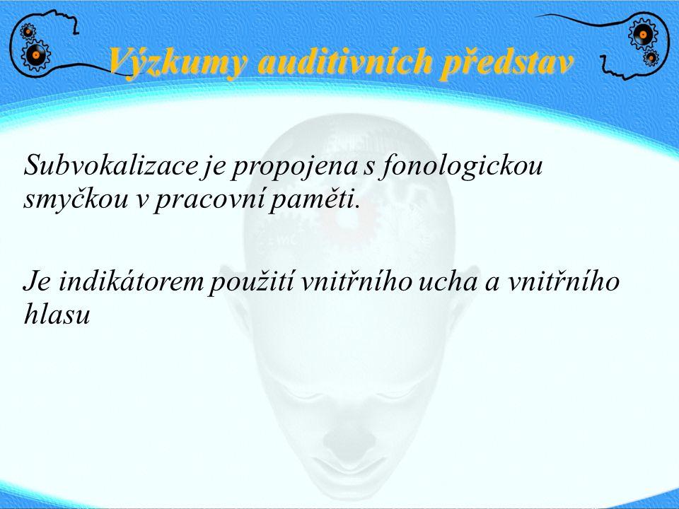 Výzkumy auditivních představ
