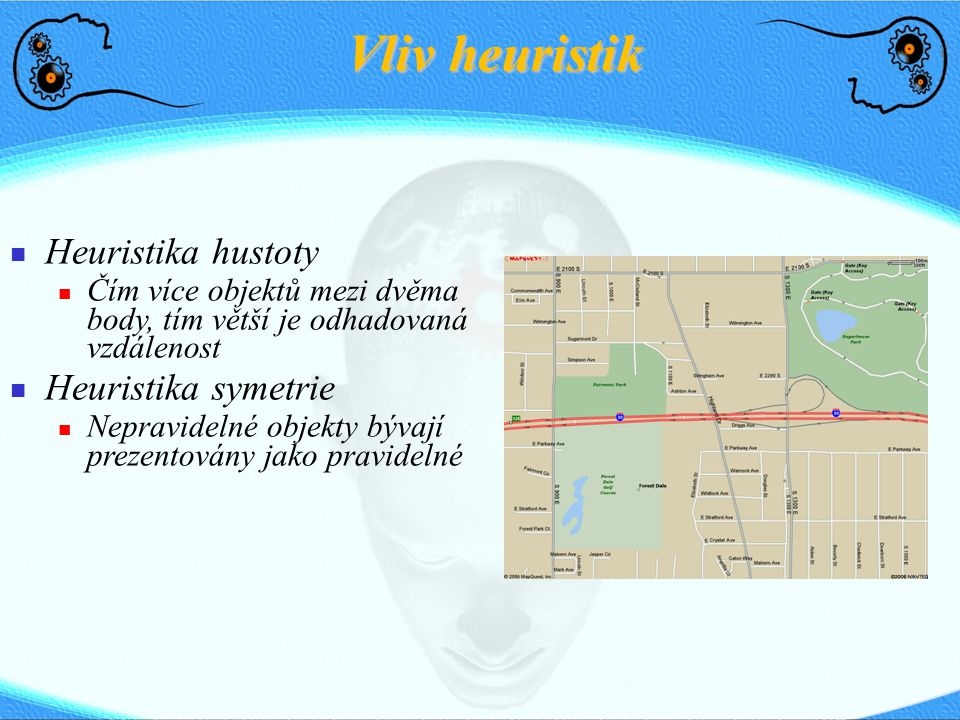 Vliv heuristik Heuristika hustoty Heuristika symetrie