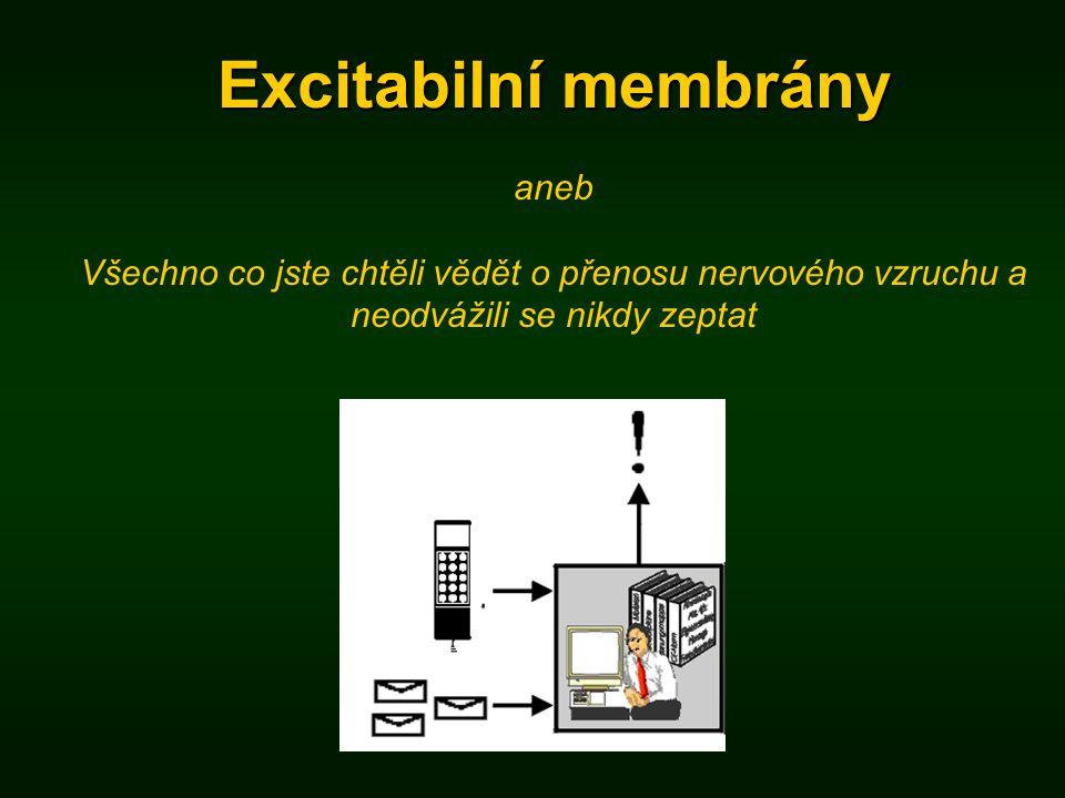 Excitabilní membrány aneb