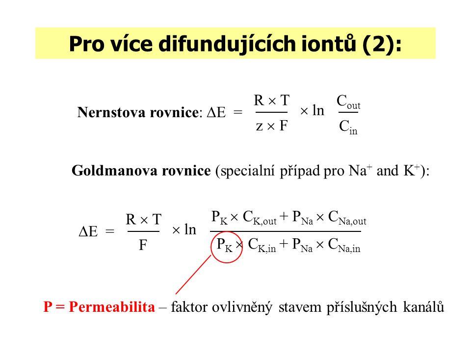 Pro více difundujících iontů (2):