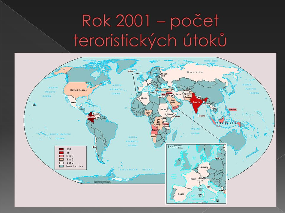 Rok 2001 – počet teroristických útoků