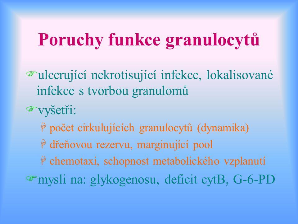 Poruchy funkce granulocytů