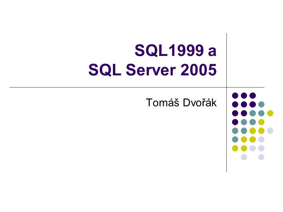 SQL1999 a SQL Server 2005 Tomáš Dvořák