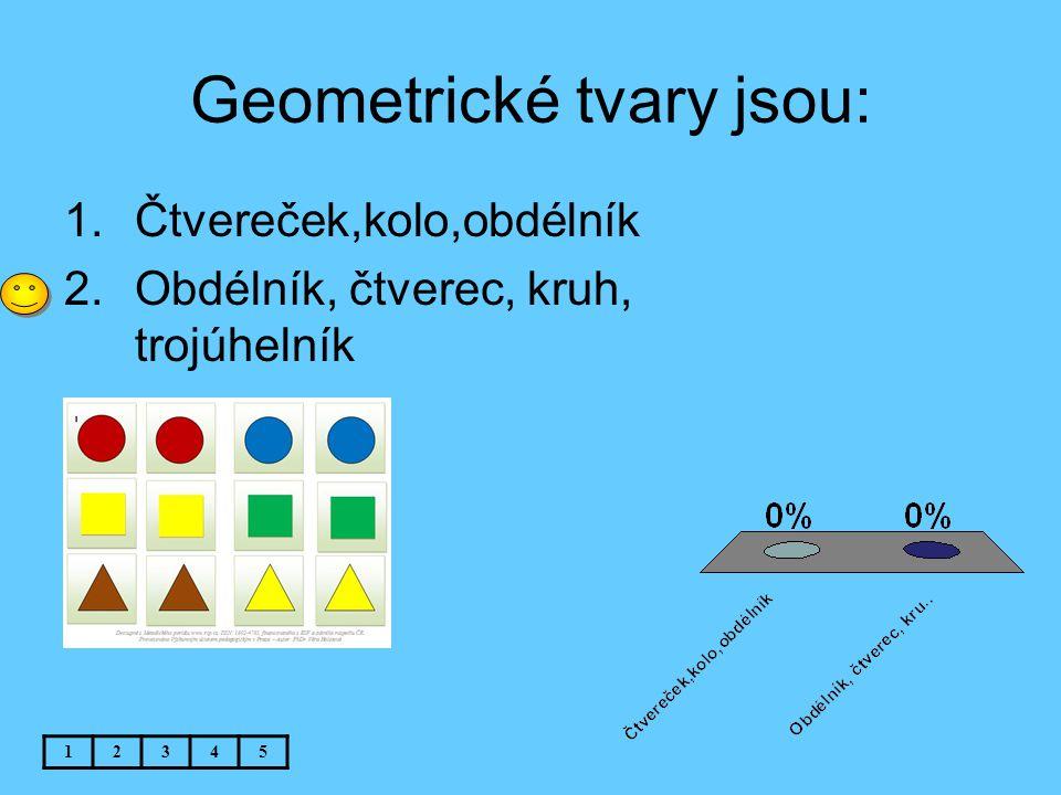 Geometrické tvary jsou: