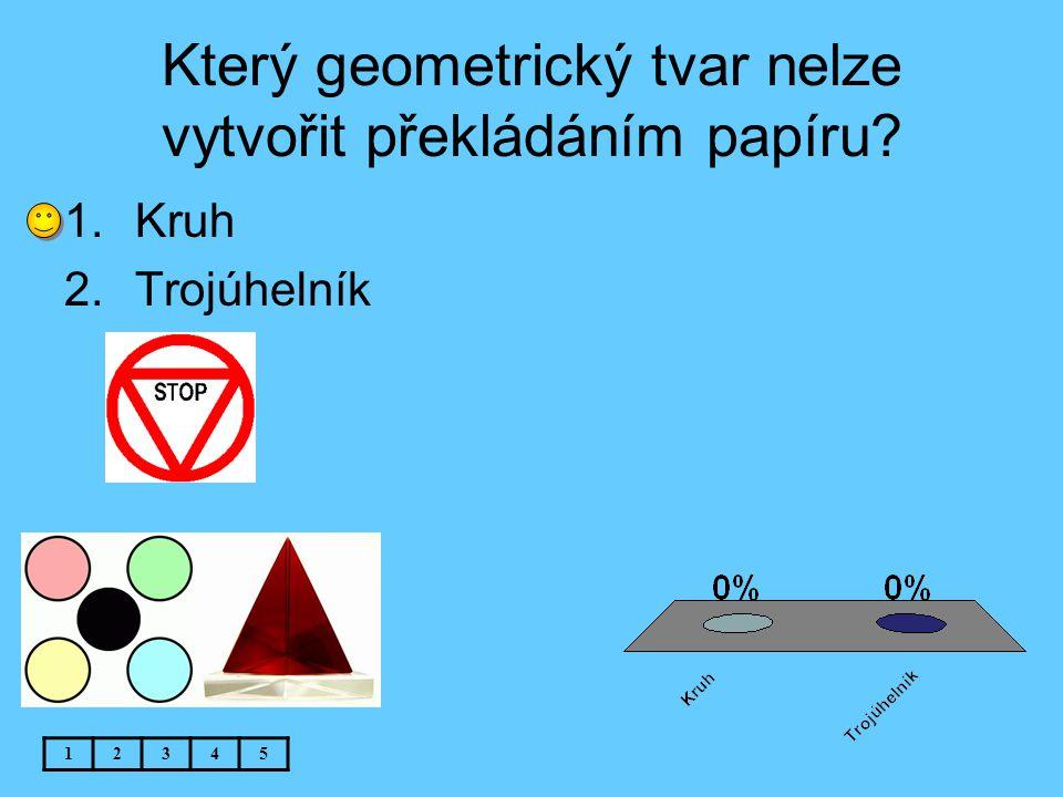 Který geometrický tvar nelze vytvořit překládáním papíru