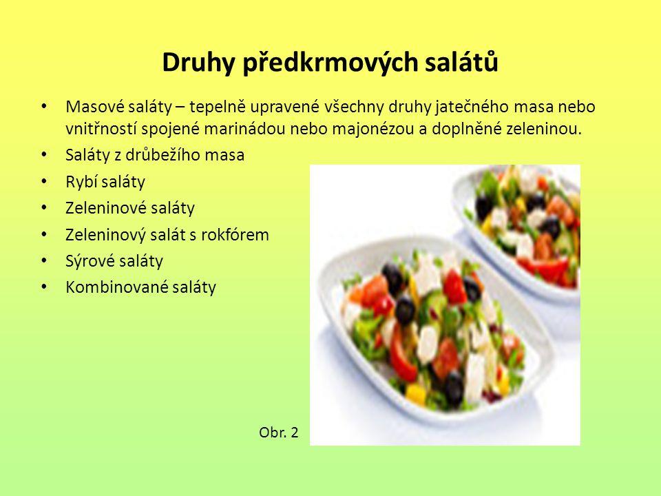 Druhy předkrmových salátů