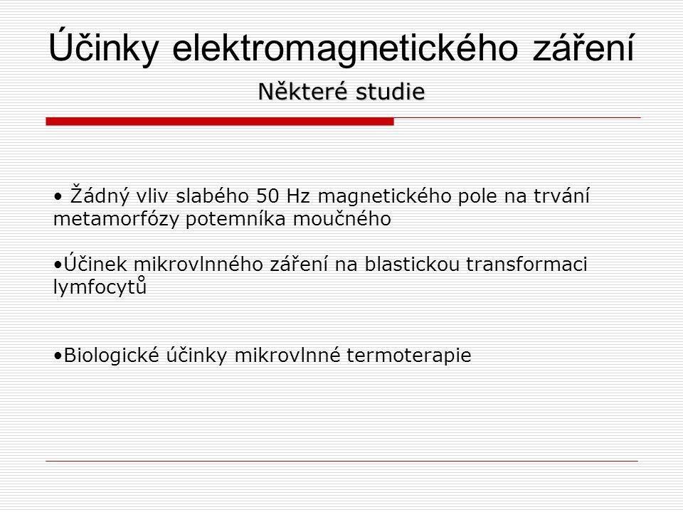 Účinky elektromagnetického záření