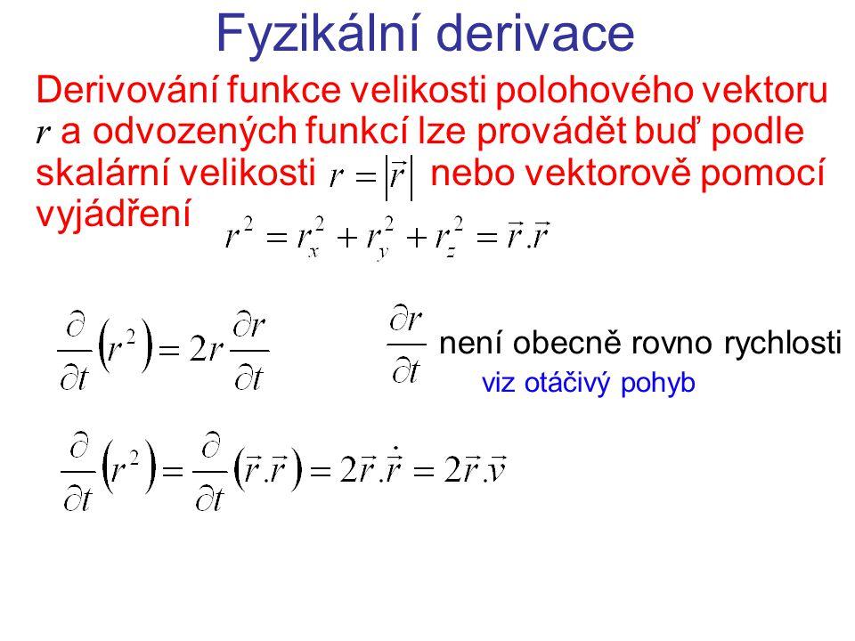 Fyzikální derivace